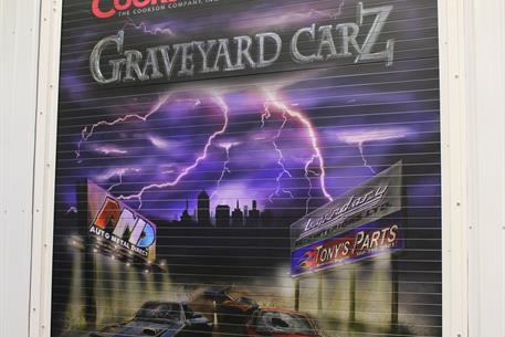 Picture of powder coated door at Graveyard Carz