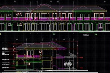 Image of a house blueprint