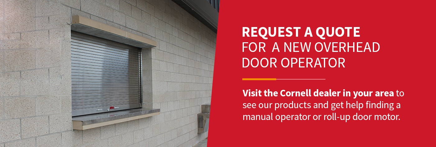 Request a Quote for a New Overhead Door Operator