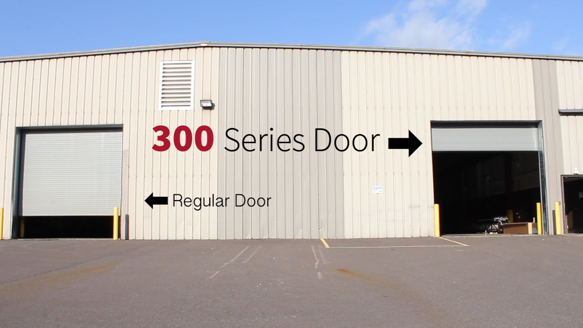 High Speed Overhead Door Extreme 300 Series Performance Rolling Door Promo