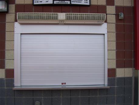 White counter shutter