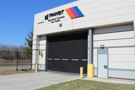 Overhead Door- NJ Transit, Egg Harbor Twp - Rubber doors