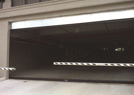 Black Brick Pattern Grille Parking Garage 2