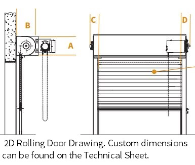 Roll Up Service Doors Cornell Iron Rolling Service Doors