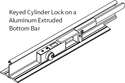 CYLINDER LOCK - STD BOTTOM BAR