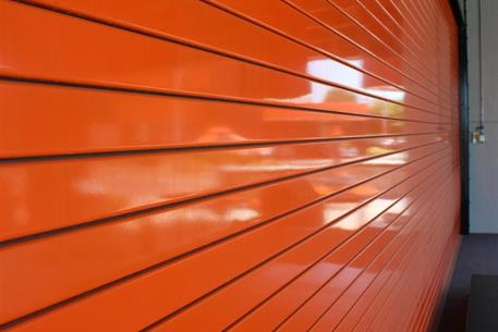 steel doors orange-service-door-slats ... & Rolling Service Door Pezcame.Com