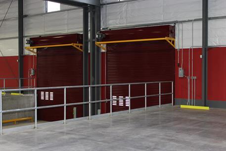 Rolling steel door on building -  Insulated Door Inside Thermiser Max Insulated Roll