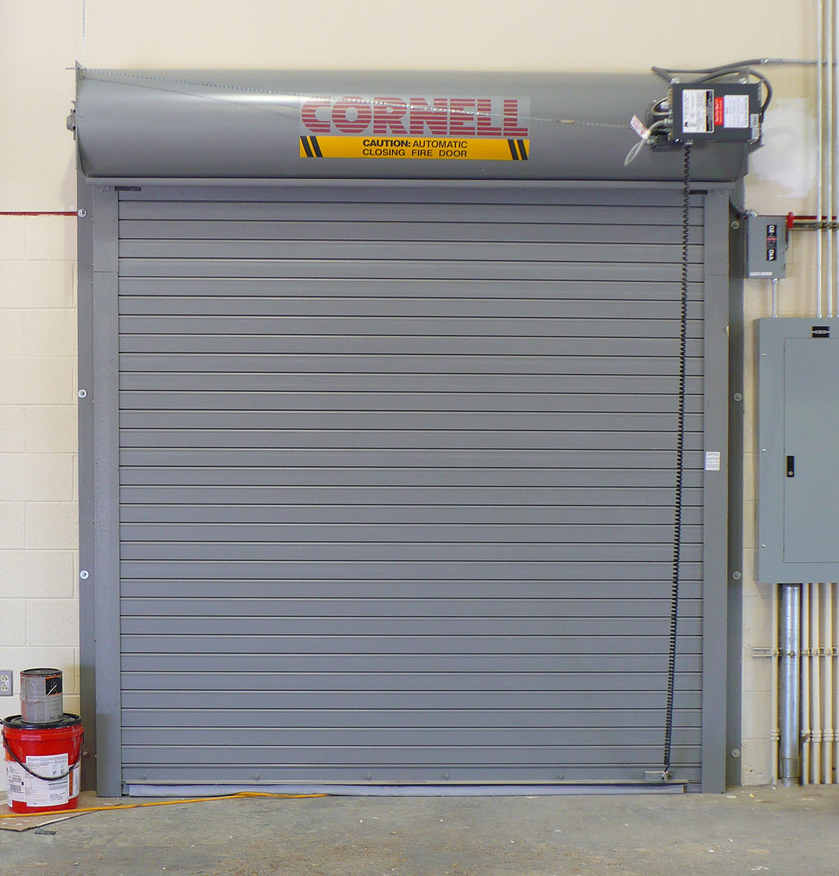 Fire Door with Coil Cord