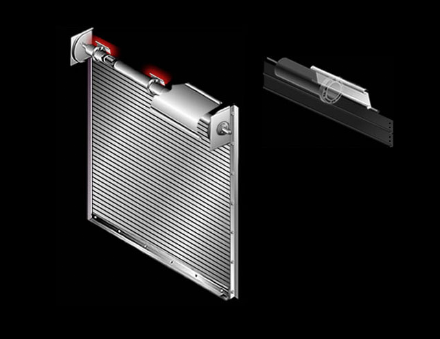 fastening-section on rolling door