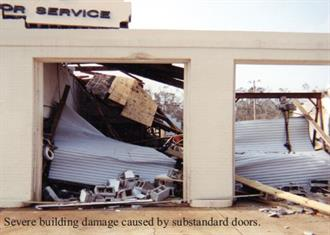 Hurricane Proof Doors competitor with text