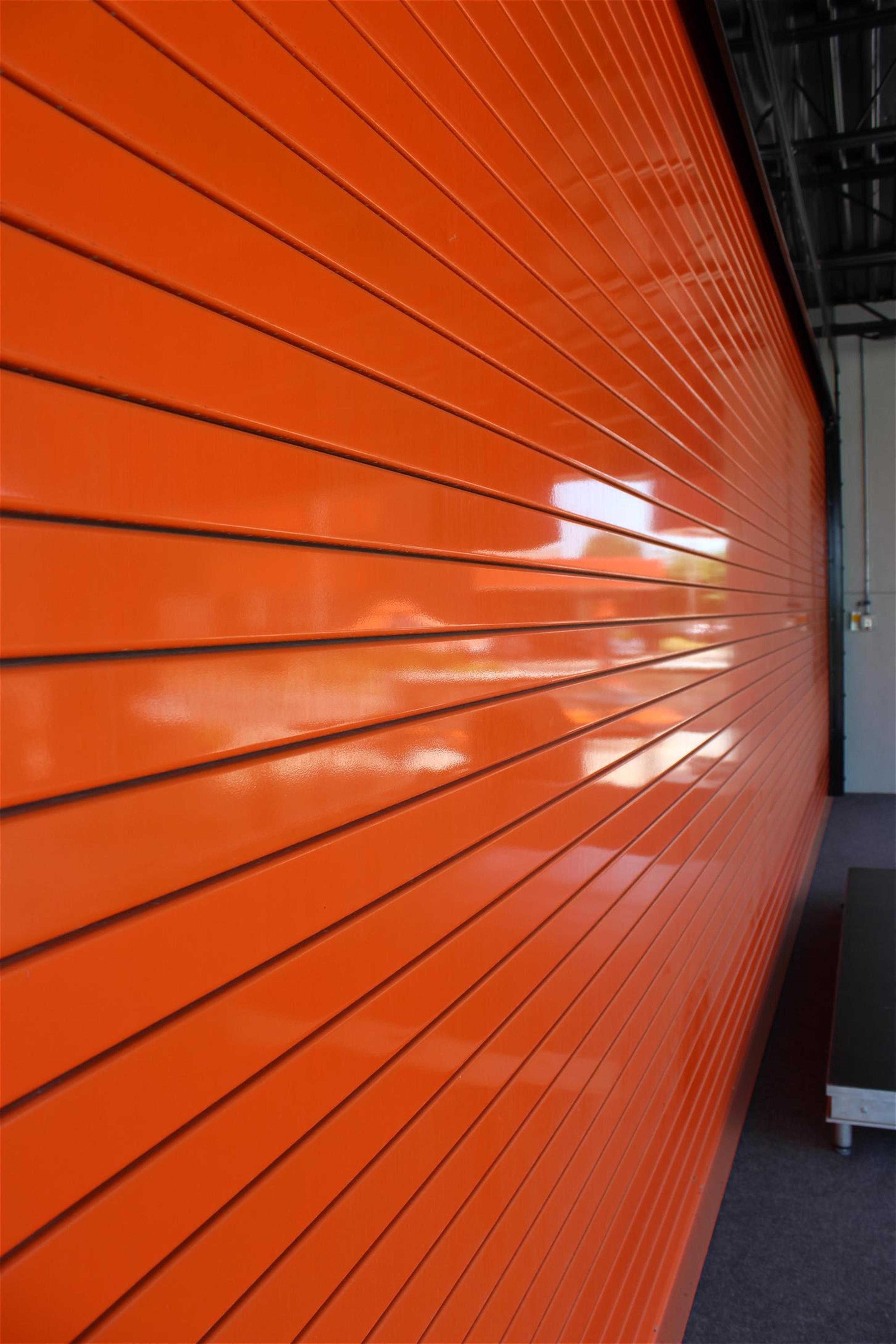 Insulated Roll Up Garage Doors Powder Coated