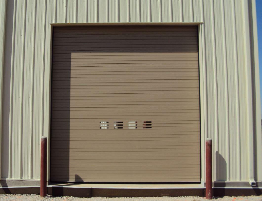 Overhead Garage Door Tan With Windows